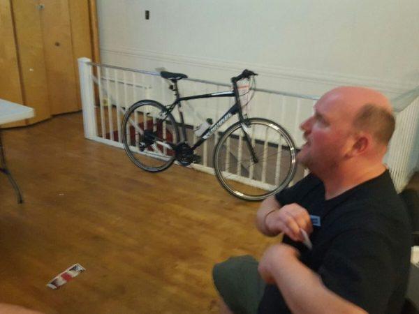The prize bike.